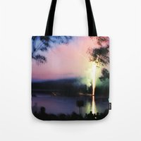 camp Tote Bags featuring camp by Michael Jack