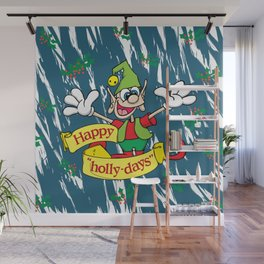 """Happy """"Holly-days"""" Wall Mural"""