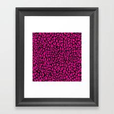 Pink Black Leopard Framed Art Print
