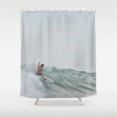 morning surf Shower Curtain