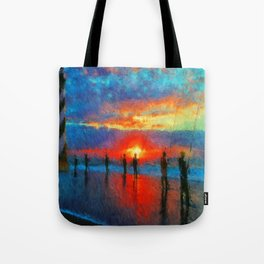 Surf Fishing Hatteras Tote Bag