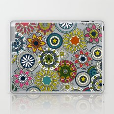 mandala cirque festival silver Laptop & iPad Skin