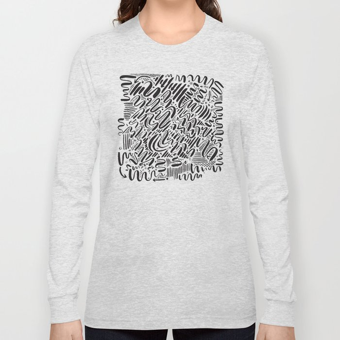 SQUIGGLY WIGGLY Long Sleeve T-shirt