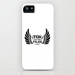 Tox Files - Black on White iPhone Case