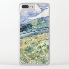 Vincent van Gogh Landscape Saint-Rémy Clear iPhone Case