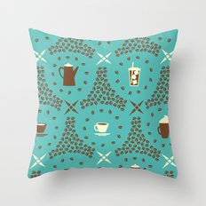 Coffee Hour Throw Pillow