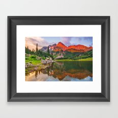 Rocky Mountain Glow Framed Art Print