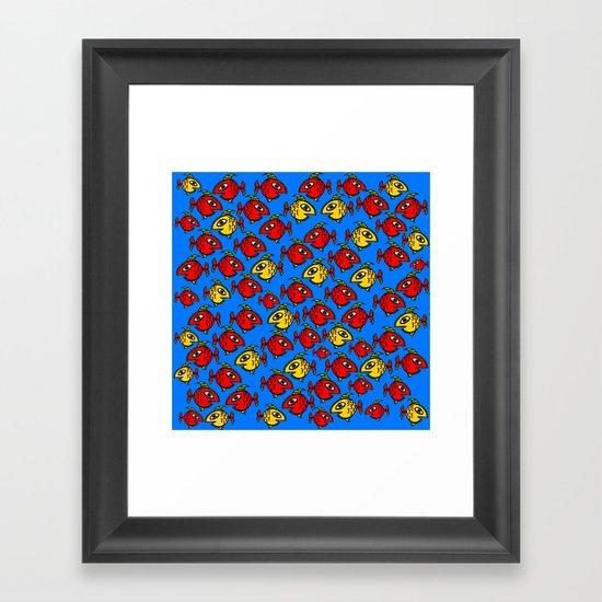 Plenty fish in the sea Framed Art Print