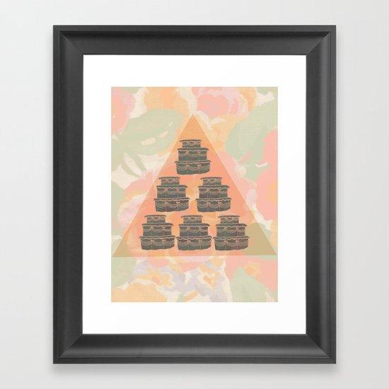 Cake and Flowers Framed Art Print
