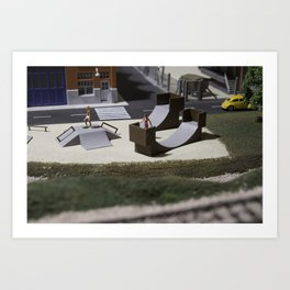 Miniature skatepark Art Print