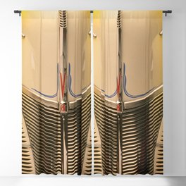 Classic Vintage Car Grill in Executive Yellow Blackout Curtain