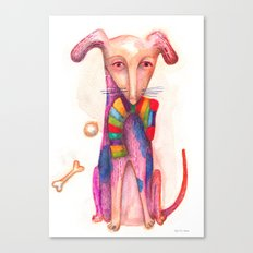 pet dog with precious toys Canvas Print
