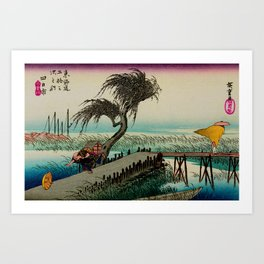 Yokkaichi - Vintage Japanesse Ukiyo e Art Art Print