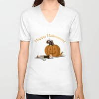 the hobbit V-neck T-shirts featuring Hobbit Halloween by wolfanita