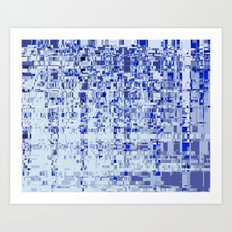 Abstract Architecture Blue Art Print