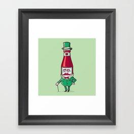 Sir Fancy Ketchup Framed Art Print