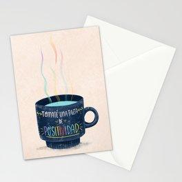 Tomaté una Taza de Positividad Stationery Cards