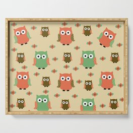 owls Serving Tray