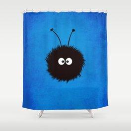 Blue Cute Dazzled Bug Shower Curtain