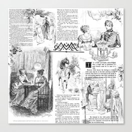 Pride and Prejudice - Pages Canvas Print