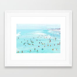Hot Summer Day #painting #illustration Framed Art Print