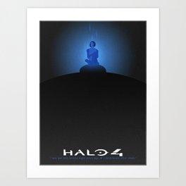 Halo 4 Minimalistic Cortana Poster Art Print