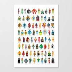 Pixel Heroes Canvas Print
