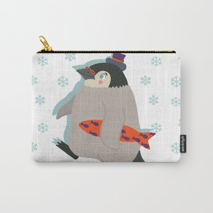 March of The Holiday Penguin Carry-All Pouch