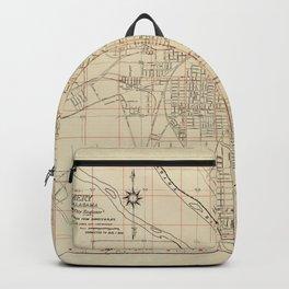 Map of Montgomery, Alabama (1956) Backpack