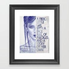 Fierce little girl Framed Art Print