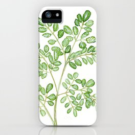 Moringa Watercolor iPhone Case