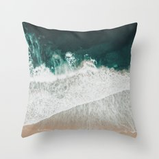 Lost waves Throw Pillow