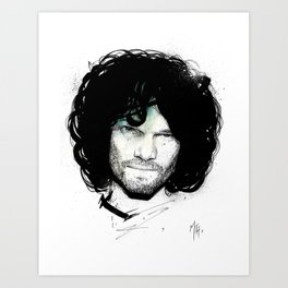 Jamie Rhodes, by Mr Four Fingers Art Print