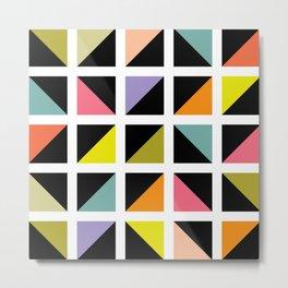 Triangle box pattern Metal Print