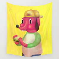 burger Wall Tapestries featuring my kind of burger by ALVAREZ