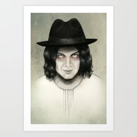 jack white Art Prints featuring Jack White by Stephanie Crane