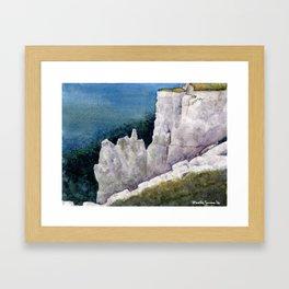 On Top of the Cliffs 2 Framed Art Print