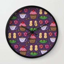 Food Fight Wall Clock