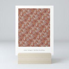 Water Swingers in Beach Sand ( leafy sea dragon pattern in coral ) Mini Art Print