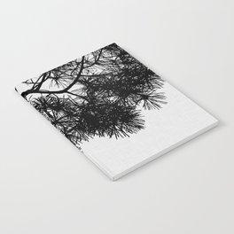 Pine Tree Black & White Notebook