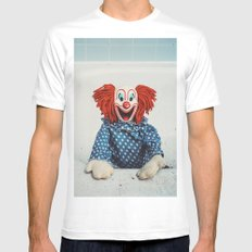 Can't Bathe Clown Will Eat Me MEDIUM Mens Fitted Tee White