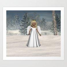 Little Winter Angel Art Print