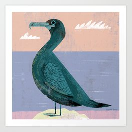 Flightless Cormorant Art Print