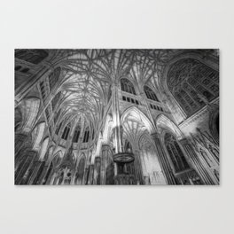 St Patrick's Cathedral New York Art Canvas Print