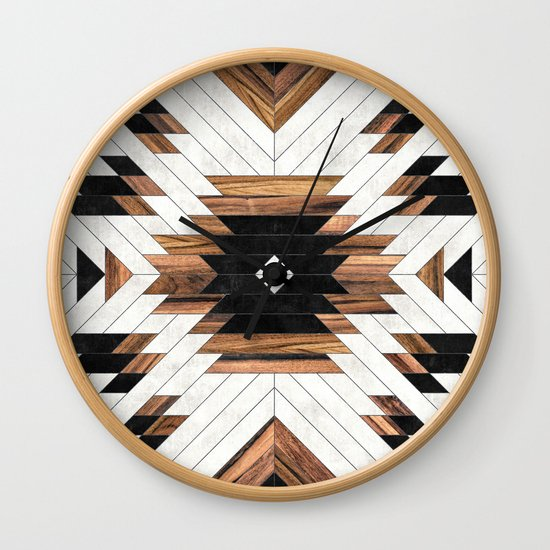 Urban Tribal Pattern No.5 - Aztec - Concrete and Wood by zoltanratko