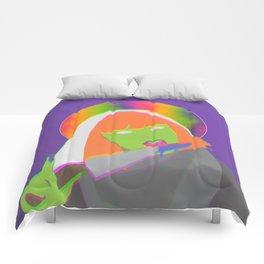 Neon Queen of Halloween Comforters