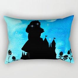 Magical Watercolor Night - Alice In Wonderland Rectangular Pillow