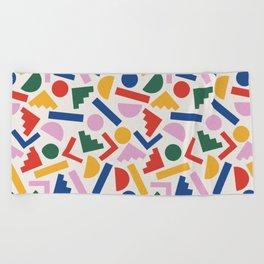 Colorful Geometric Shapes Beach Towel