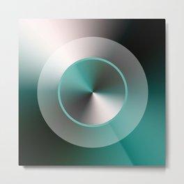 Serene Simple Hub Cap in Aqua Metal Print