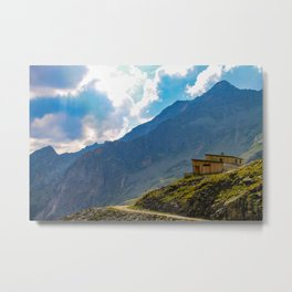 Living high in the mountains. Metal Print